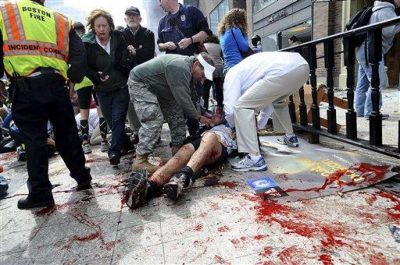 boston attack - using turniquet to save lives